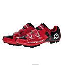 abordables Zapatos de Ciclismo-SIDEBIKE Calzado para Mountain Bike Fibra de Carbono Amortización Ciclismo Negro / Rojo Hombre