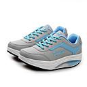 baratos Sapatos Esportivos Femininos-Mulheres Sapatos Courino Primavera / Outono Conforto Tênis Plataforma / Creepers Cadarço Preto / Azul / Rosa claro