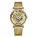 baratos Relógio Elegante-SOXY Casal Relógio de Pulso Gravação Oca Lega Banda Casual / Fashion Prata / Dourada / SSUO 377