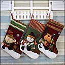 お買い得  クリスマスデコレーション-1個 祝日&挨拶 ストッキング クリスマス, ホリデーデコレーション ホリデーオーナメント