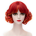 cheap Synthetic Capless Wigs-Synthetic Wig Women's Red With Bangs Synthetic Hair Red Wig Short Capless Red