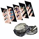 baratos Glitter para Unhas-1 pcs Pó acrílico / Pó / Nail Glitter Efeito de espelho Nail Art Design