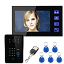 cheap Video Door Phone Systems-Ennio Touch Key 7 Lcd RFID Password Video Door Phone Intercom System Wth IR Camera  Access Control System