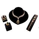 billige Mode Halskæde-Dame Link / Chain Smykkesæt - Vintage, Europæisk, Mode Omfatte Grøn Til Bryllup / Fest / Daglig / Ringe / Øreringe / Halskæder / Armbånd