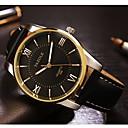 voordelige Dress horloge-YAZOLE Heren Kwarts Dress horloge s Nachts oplichtend Leer Band Amulet Zwart Bruin