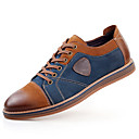 cheap Men's Slip-ons & Loafers-Men's Leather Shoes Leather / Cowhide Spring / Fall Comfort / British Oxfords Slip Resistant Gray / Brown