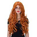 cheap Men's Necklaces-Synthetic Wig Synthetic Hair Red Wig Women's Very Long Capless
