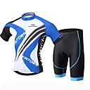 cheap Cycling Jersey & Shorts / Pants Sets-XINTOWN Men's Short Sleeves Cycling Jersey with Shorts - Black Bike Shorts Jersey Clothing Suits, 3D Pad, Quick Dry, Ultraviolet