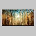 cheap Abstract Paintings-Hand-Painted Abstract Landscape Abstract Landscape Floral/Botanical Horizontal, Modern Canvas Oil Painting Home Decoration One Panel