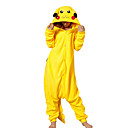 cheap Kigurumi Pajamas-Adults' Kigurumi Pajamas Pika Pika Onesie Pajamas Polar Fleece Yellow Cosplay For Men and Women Animal Sleepwear Cartoon Festival / Holiday Costumes
