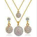 baratos Colares-Mulheres Diamante sintético Camadas Conjunto de jóias - Strass, Imitações de Diamante Luxo, Europeu, Dupla camada Incluir Colar / Brincos Dourado / Branco Para Festa / Diário / Casual / Colares