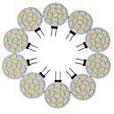 hesapli LED Çift-Pimli Işıklar-10pcs 3 W LED Bi-pin Işıklar 200-300 lm G4 T 15 LED Boncuklar SMD 5730 Dekorotif Sıcak Beyaz Serin Beyaz 12 V / 10 parça / RoHs