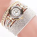 baratos Relógios de Pulseira-Mulheres Bracele Relógio Relógio Casual Couro Banda Rígida Preta / Branco / Prata / Aço Inoxidável