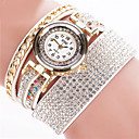preiswerte Armband-Uhren-Damen Armband-Uhr Armbanduhren für den Alltag Leder Band Armreif Schwarz / Weiß / Silber / Edelstahl