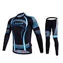 cheap Cycling Jerseys-Malciklo Men's Long Sleeve Cycling Jersey with Tights Geometic / British Bike Tights / Clothing Suit, Breathable, 3D Pad, Quick Dry Coolmax®, Lycra Geometic / High Elasticity / Advanced