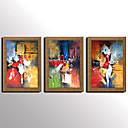 זול אומנות ממוסגרת-ציור שמן צבוע-Hang מצויר ביד - מופשט מפורסם L ו-scape סגנון ארופאי מודרני ים- תיכוני בַּד
