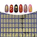 billige Strass og dekorasjoner-1 pcs 3D Negle Stickers Neglekunst Manikyr pedikyr Mote Daglig / 3D Nail Stickers