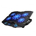cheap USB Chargers-Adjustable LED Screen Smart Control Laptop Cooling Pad with 5 Fans