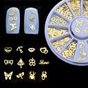 رخيصةأون ملصقات الأظافر-1 pcs مجوهرات الأظافر فن الأظافر تجميل الأظافر والقدمين يوميا موضة / مجوهلرات الأظافر