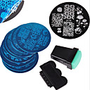 cheap Nail Stamping-10pcs nail art stamping image template plates 2 pcs nail art stamping printer