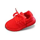 preiswerte Jungenschuhe-Jungen Schuhe Tüll Frühling Sommer Komfort Flache Schuhe Walking Schnürsenkel für Schwarz / Rot