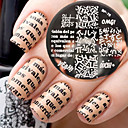 cheap Nail Stamping-newly born pretty bp76 alphabet theme nail art stamping template image plate