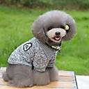 preiswerte Hundekleidung-Katze Hund T-shirt Pullover Hundekleidung Streifen Dunkelblau Grau Baumwolle Kostüm Für Haustiere Herrn Damen warm halten Modisch