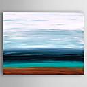 olcso Fali rögzítők-Hang festett olajfestmény Kézzel festett - Absztrakt Modern Tartalmazza belső keret / Nyújtott vászon