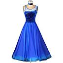 baratos Roupas de Dança de Salão-Dança de Salão Vestidos Mulheres Espetáculo Poliéster Elastano Cristal / Strass Vestido Neckwear