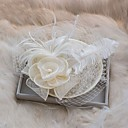 cheap Pins and Brooches-Tulle / Feather / Silk Fascinators with 1 Wedding / Special Occasion / Birthday Headpiece