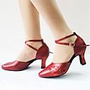 ieftine Pantofi Moderni-Pentru femei Pantofi Dans Latin / Pantofi Moderni Îmbulzesc / Paillertte / Imitație de Piele Sandale / Călcâi Cataramă Toc Personalizat Personalizabili Pantofi de dans Negru / Rosu / Interior