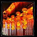 billige Uundværligt rejsetilbehør til hunde-halloween græskar dekorationer papir lanterne bar er dekoreret bærbare jack hængende græskar med skæg 20cm