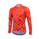 cheap Cycling Jerseys-Fastcute Men's Women's Unisex Long Sleeve Cycling Jersey - Skin Red Herringbone Plus Size Bike Sweatshirt Jersey Top, Breathable Quick Dry Reflective Strips Coolmax® 100% Polyester / Stretchy