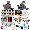 cheap Starter Tattoo Kits-Tattoo Machine Starter Kit - 2 pcs Tattoo Machines with 10 x 5 ml tattoo inks LCD power supply Case Not Included 2 cast iron machine