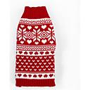 povoljno Odjeća za psa-Pas Puloveri Odjeća za psa Dungi Woolen Kostim Za Zima Muškarci Žene Ležerno / za svaki dan Božić