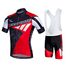 cheap Cycling Jersey & Shorts / Pants Sets-Fastcute Men's Short Sleeve Cycling Jersey with Bib Shorts Plus Size Bike Bib Tights Clothing Suit Breathable 3D Pad Quick Dry Sweat-wicking Sports Polyester Lycra Sports Mountain Bike MTB Road Bike