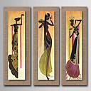 ieftine Rame-Hang-pictate pictură în ulei Pictat manual - Abstract Oameni Natură moartă Stil European Modern Realism pânză