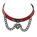 billige Mode Armbånd-Dame Kort halskæde / Krave - Læder Personaliseret, Gotisk, Mode Kaffe, Rose, Rød Halskæder Smykker Til Fest, Daglig, Afslappet