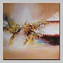זול ציורי שמן-ציור שמן צבוע-Hang מצויר ביד - מופשט מודרני עם מסגרת / בד מתוח