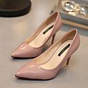 preiswerte Damen Heels-Damen Schuhe Lackleder Frühling / Herbst High Heels Walking Stöckelabsatz Rot / Grün / Hautfarben / Kleid