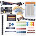 preiswerte Andere Teile-Starter-Einsteiger-Set Steckbrett Kabel Widerstand-Kondensator geführt Potentiometer für Arduino Learning Kit