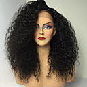 cheap Human Hair Wigs-Human Hair Glueless Full Lace Full Lace Wig Kinky Curly Wig Natural Hairline African American Wig 100% Hand Tied Women's Medium Length Long Human Hair Lace Wig
