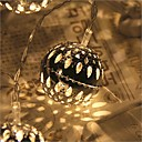 preiswerte LED Lichterketten-2,5 m Leuchtgirlanden 20 LEDs LED Diode Warmes Weiß Wasserfest / Verbindbar 5 V 1 set / IP44