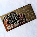 billige Christmas Nail Art-1 stk jul DIY bilde stempel stamper plate manikyr mal Nail Art stempling verktøy utskrift overføring