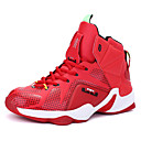 cheap Men's Athletic Shoes-Men's Leather Spring / Fall Comfort Athletic Shoes Basketball Shoes Slip Resistant Silver / Red / Black / Red