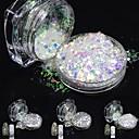 abordables Decoraciones y Diamantes Sintéticos para Manicura-1pc Polvo acrílico / Lentejuelas / Glitter Powder Elegante / Brillos Y Estrellas Herramientas y Accesorios / Nail Art Design