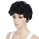 cheap Synthetic Capless Wigs-short wavy hair black color synthetic wigs for women