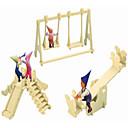 baratos Quebra-Cabeças 3D-Quebra-Cabeças de Madeira Arquitetura Chinesa Parque infantil Nível Profissional De madeira 1pcs Crianças Para Meninos Dom