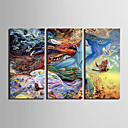 cheap Framed Arts-E-HOME® Stretched Canvas Art Abstract Woman Color Pattern Decoration Painting Set of 3