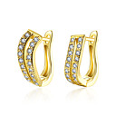 cheap Earrings-lureme Fine Jewelry 18K Gold Fashion Charms Zircon Diamond Earrings